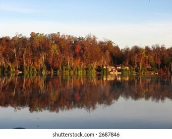 fall morning on the lake
