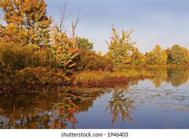 Fall at Mud lake in october