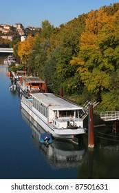 Fall on Rhone river