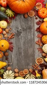 Fall Pumpkin Holiday Background