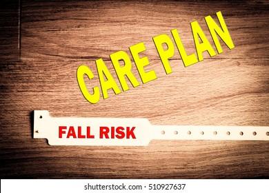 Fall risk care plan bracelet