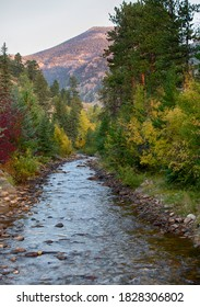 Fall River in Estes Park Colorado at Sunrise