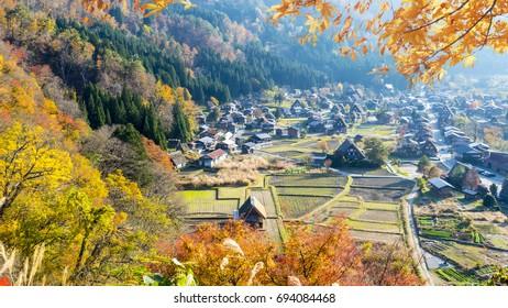 The fall season of Historic Villages of Shirakawa-go and Gokayama, Japan