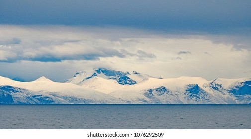 Fall Snow in the High Arctic Mountains along the Sam Ford Fjord on Baffin Island in Nunavut, Canada