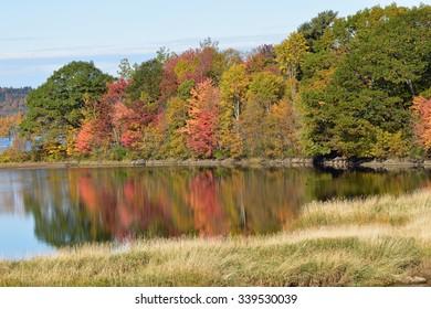 Fall Splendor on the Kennebecasis River, New Brunswick, Canada