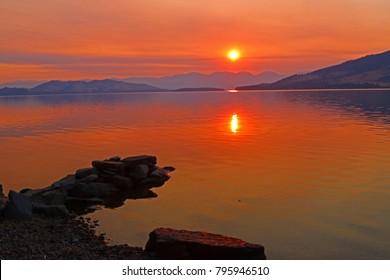 """""""Fall sunrise over Flathead Lake"""""""