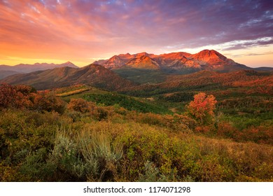 Fall sunrise in the Wasatch Back, Utah, USA.