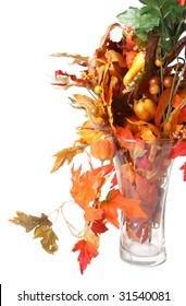 Fall theme still life with leaves and vegetables suitable for harvest, thanksgiving themes
