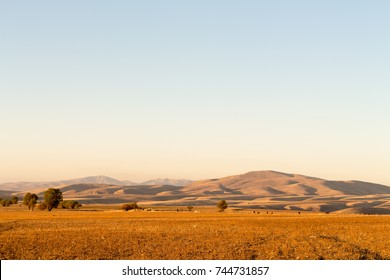 Fall time. Wonderful landscape view to mountains