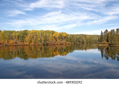 Fall View in the Algonquin Park, Ontario, Canada