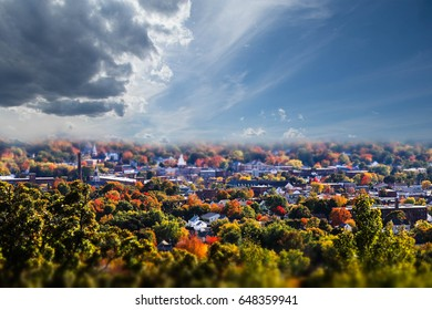 Fall view of the town of Dover, New Hampshire