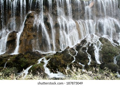 fall water at jiuzhaigou, sichuan, china