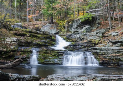Fall at the Waterfalls at George W Childs State Park. Dingmans Ferry, PA