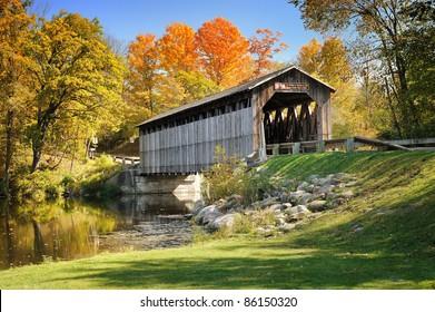 Fallasburg Covered Bridge, Lowell Michigan, USA