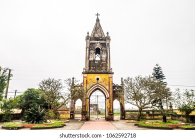 The fallen church gate in Hai Ly, Nam Dinh. The fallen church is the famous travel place in Nam Dinh.