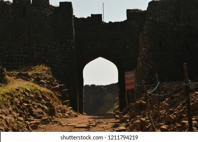 Fallen fort gate at chikaldhara hill station