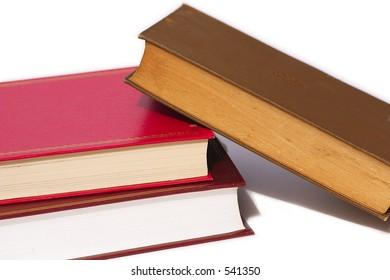 fallen stack of books