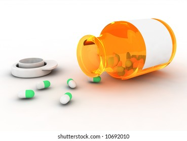 The fallen vial and scattered medicine