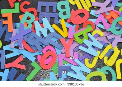 Falling Block Letters colorful