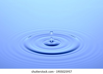 falling of a drop of water