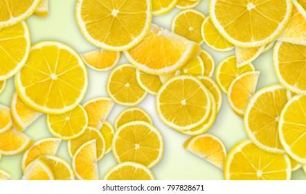 Falling Lemon Background