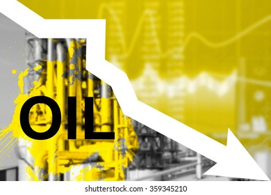 Falling oil prices in the world. Trend of of cheap fuel.
