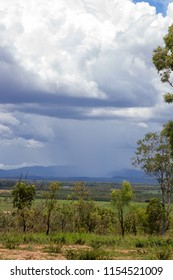 Falling rain on the Atherton Tableland in Tropical North Queensland, Australia