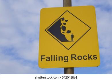Falling Rocks Sign, Australia