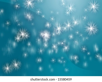 Falling snow, detailed crystalline snowlfakes abstract background wallpaper