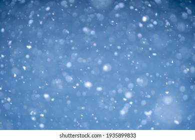 Falling snow, winter season image