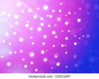 falling stars. beautiful bokeh background