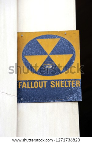 A Fallout Shelter sign