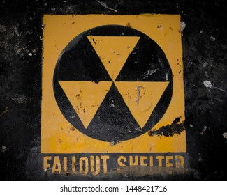 Fallout Shelter Symbol Painted on the Wall