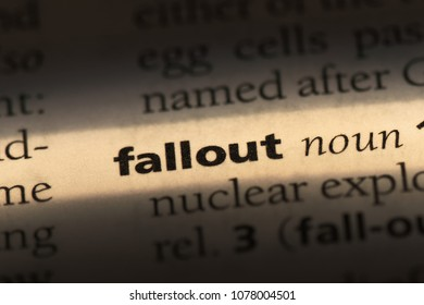 fallout word in a dictionary. fallout concept