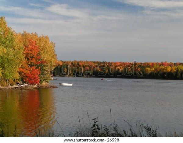 falls color on the tabusintac river New-Brunswick