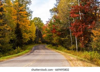 Falls colors in Upper Peninsula of Michigan