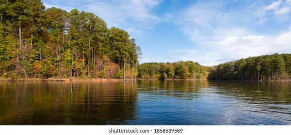Falls Lake in North Carolina in the first full week of autmn