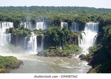 Iguazú Falls, Misiones Region, Argentina. March 14th 2019. Iguazú falls are one of the main water reserves in the world. Many tourists and local people are visiting them all over the year.
