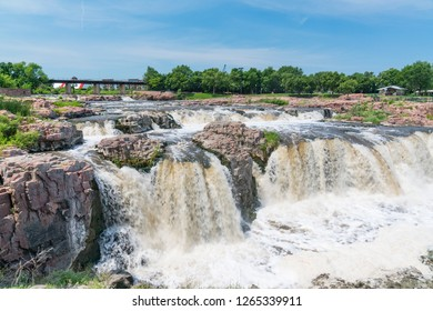 Falls Park along the Big Sioux River in Sioux Falls South Dakota