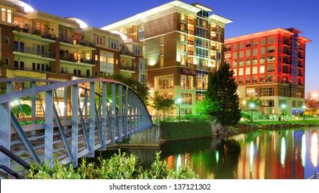 Falls Park in Greenville, South Carolina, USA
