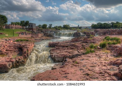 Falls Park is a major Tourist Attraction in Sioux Falls, South Dakota during all Seasons