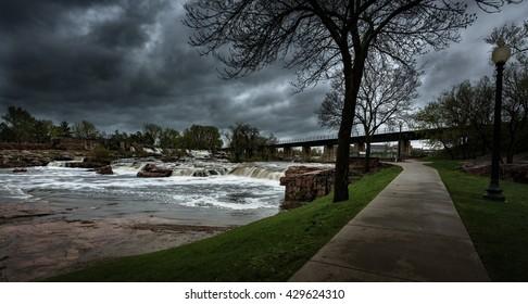 Falls Park - Sioux Falls South Dakota United States Landscapes