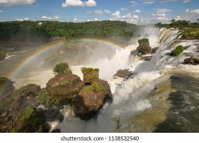 Iguazú Falls are waterfalls of the Iguazu River on the border of the Argentine province of Misiones and the Brazilian state of Paraná