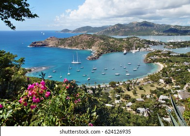 Falmouth bay - View from Shirley Heigths, Antigua, Caribbean Sea