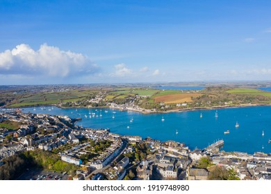Falmouth Harbour, Cornwall, England on a beautiful winters day