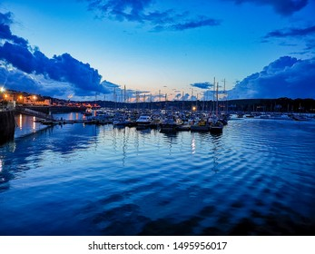 Falmouth Harbour in Cornwall at sunset