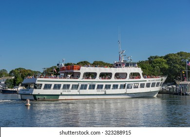 Falmouth, USA on 15th Sept 2015: The Island Queen passenger ferry runs between Falmouth on Cape Cod to Oak Bluffs on Martha's Vinyard on daily basis but with reduced service in Autumn until Spring
