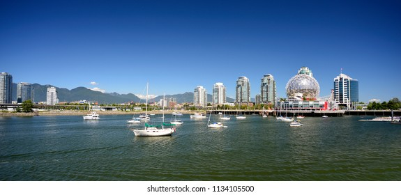 False Creek in Vancouver, BC, Canada. Located at the east side of Vancouver,  False Creek is a favorite playground of Vancouveriters.