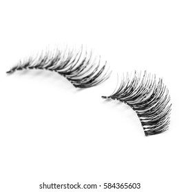 false eyelashes, black false eyelashes, isolated on white background