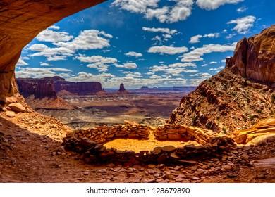 False Kiva Anasazi Indian Ruin, Canyonlands National Park, Utah